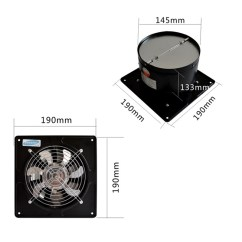 Exhaust Fan Kitchen Faucet Spray Head 40w 6 Inch Ventilation Bathroom Window Ceiling Wall Mounted