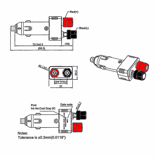 12 volt cigarette lighter socket wiring diagram ford focus mk1 rear light car named foneplanet de 12v 10a auto charger plug power cable rh banggood com