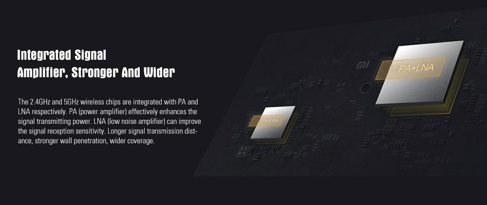 Xiaomi Mi 4A Wireless Router Gigabit Edition 2.4GHz + 5GHz WiFi High Gain 4 Antenna Support IPv6 30