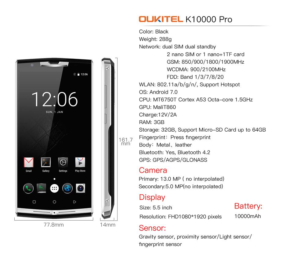Oukitel K10000 Pro 5.5
