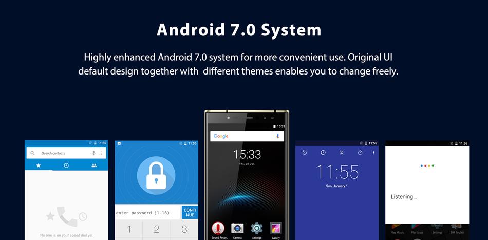 Oukitel K3 5.5 Inch Dual Front & Rear Cameras 4GB RAM 64GB ROM MT6750T Octa-Core 6000mAh Battery 4G Smartphone
