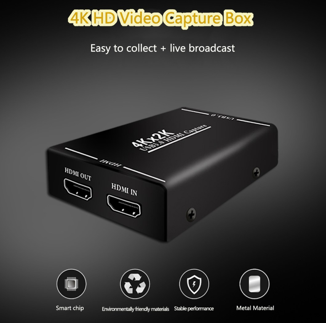 4K HD to HD Video Capture Box USB3.0 for Mobile Phone OBS Game Live Box for PC TV 5