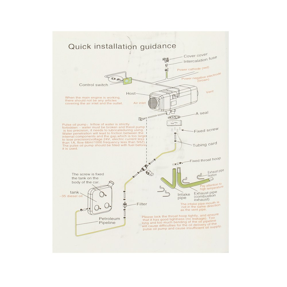 medium resolution of 12v 5000w parking heater diesel air heater warming heater set