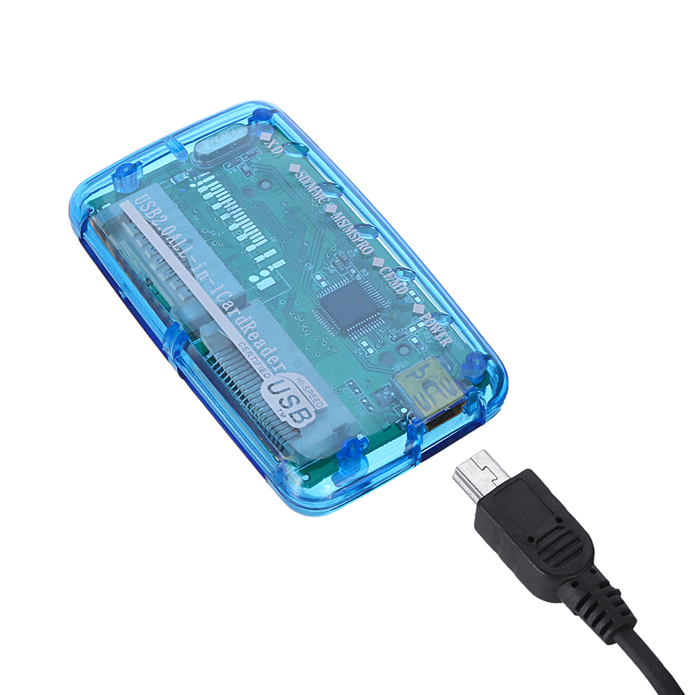 6-in-1 Multifunctional USB 2.0 to TF SD XD M2 CF MS Card Reader 23