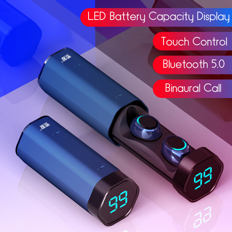 [Bluetooth 5.0] Bakeey T2 TWS Earphone LED Battery Display Smart Touch Binaural Call IPX5 Waterproof 5