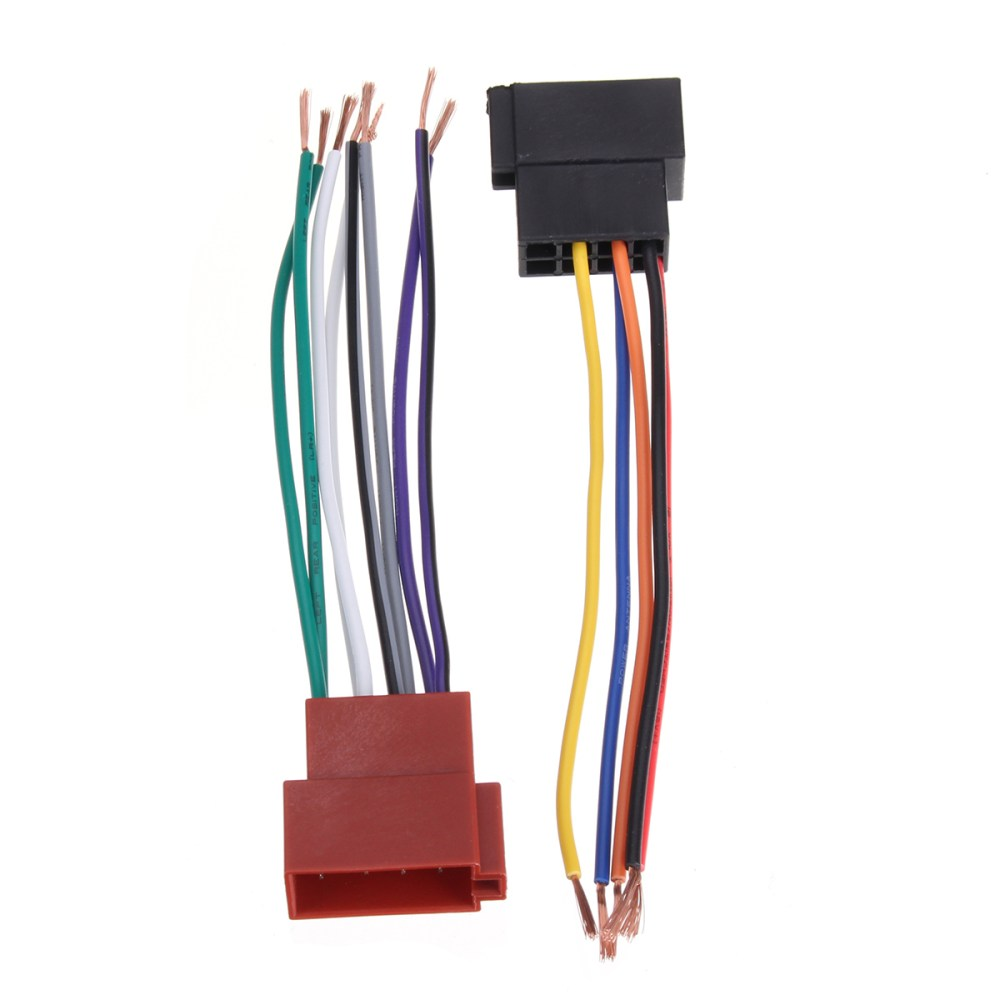 medium resolution of universal car stereo female iso radio plug adapter wiring cable stereo harness