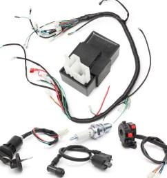 150cc 200cc 250cc wiring harness loom solenoid coil reg [ 1200 x 1200 Pixel ]
