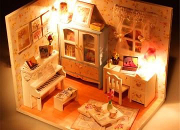 Costruire Una Casa Delle Bambole Di Legno : Mobili miniatura per casa delle bambole fai da te fai da te