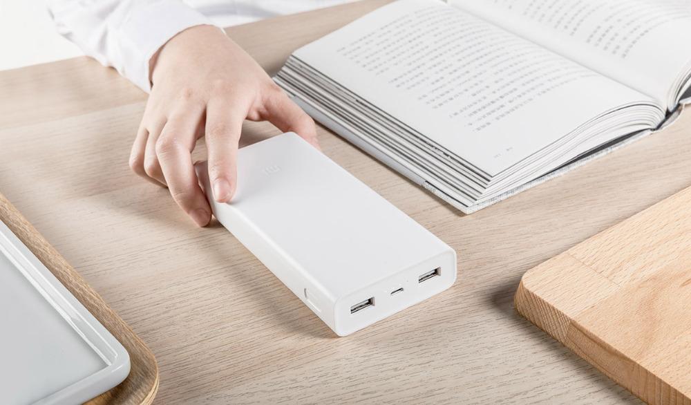 Banque de puissance 2 de polymère de charge rapide 3.0 de Xiaomi 2C 20000mAh rapide 2 sortie USB