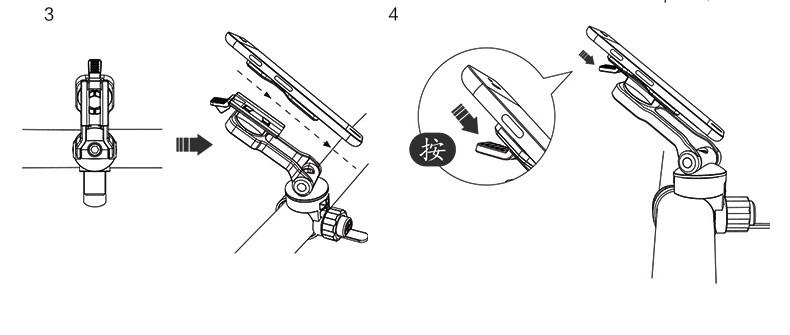 gaciron h02 universal bicycle phone/gps handlebar holder