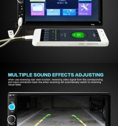 7 inch car stereo radio mp5 mp3 player fm usb aux full hd bluetooth touch screen [ 760 x 1520 Pixel ]