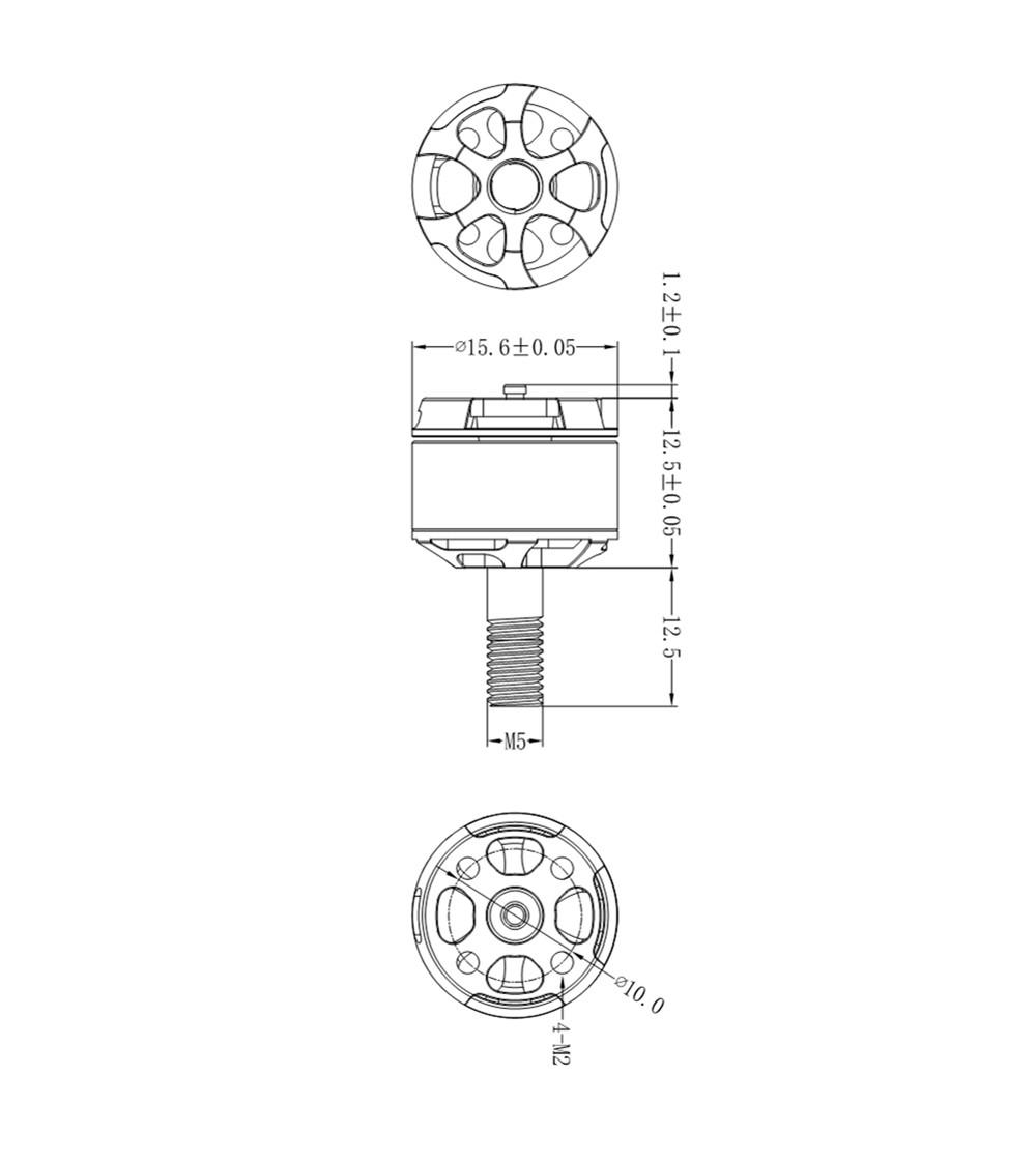 URUAV ZD1105 5500KV 6500KV 2-3S Brushless Motor CW for RC