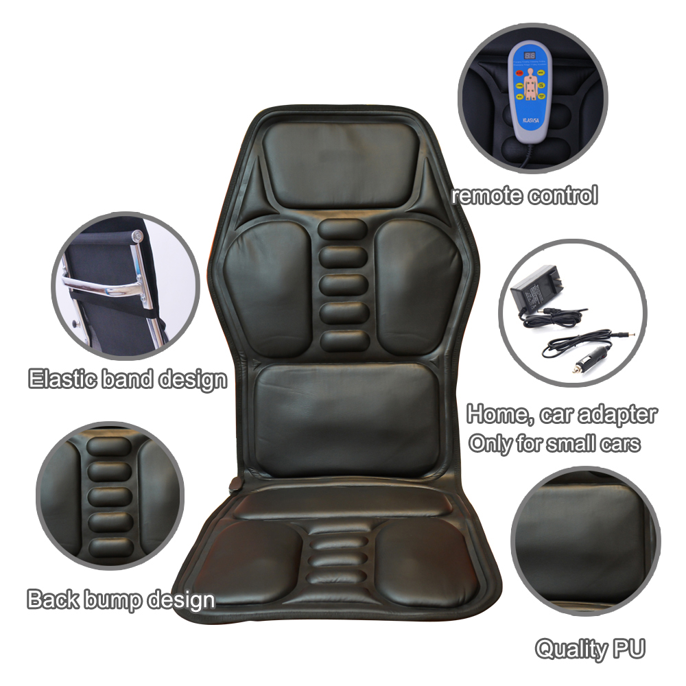 Office Chair Massager Heated Back Electric Massage Chair Seat Car Home Office Seat Massager Heat Vibrate Cushion Back Neck Massage Chair Massage Relaxation