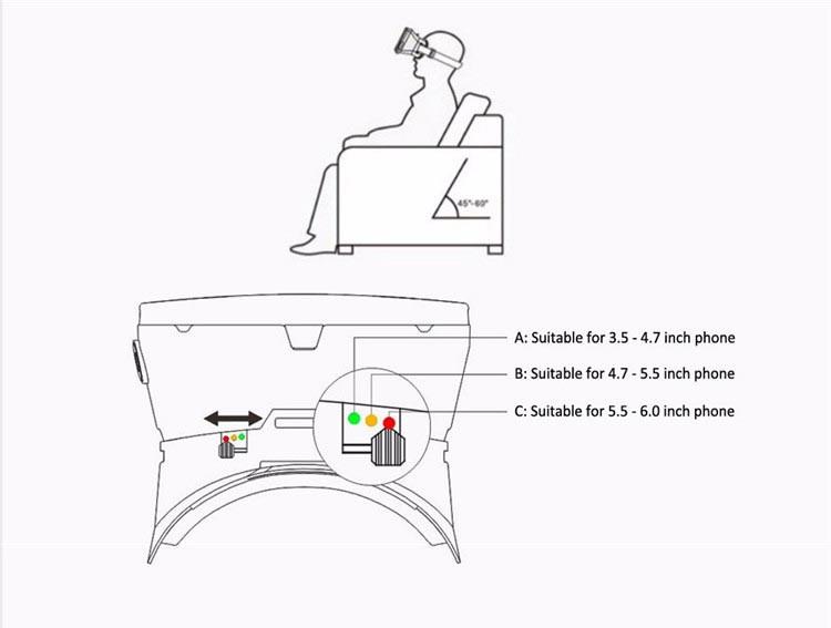 ritech ii cabeça montar versão 3d óculos de realidade
