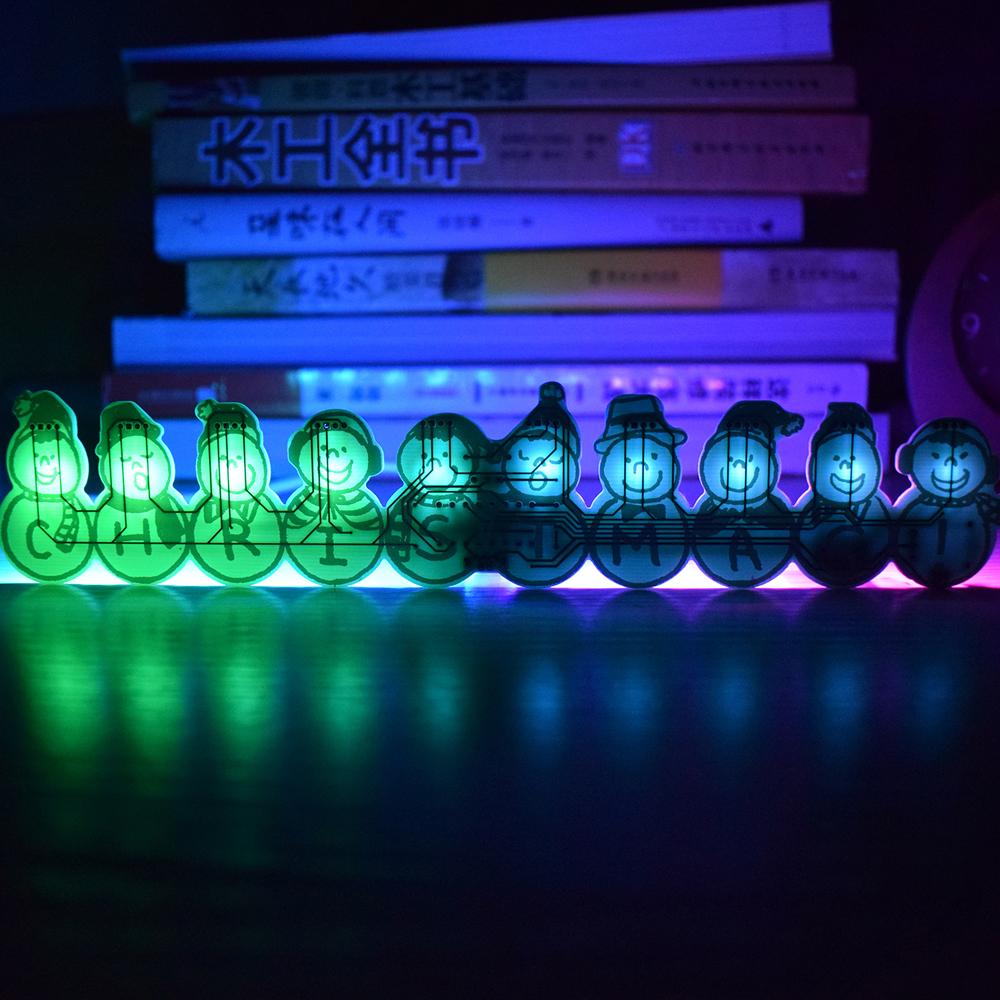 3pcs Geekcreit® DIY Full Color Christmas Snowman Music Box Kit 32