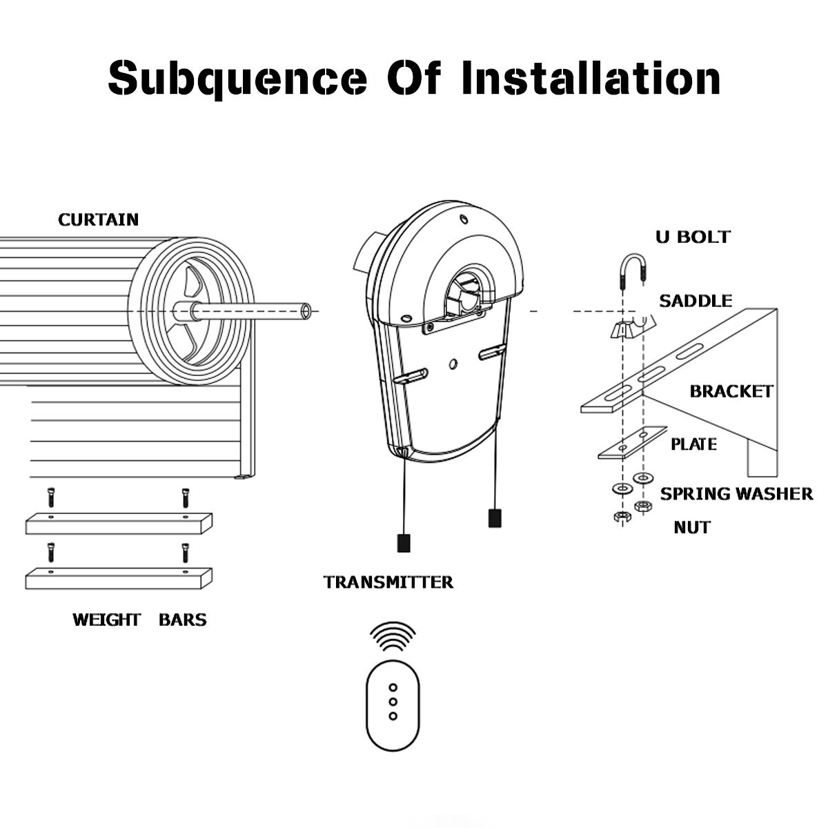 saws 110v 600n auto garage roller door opener motor 3