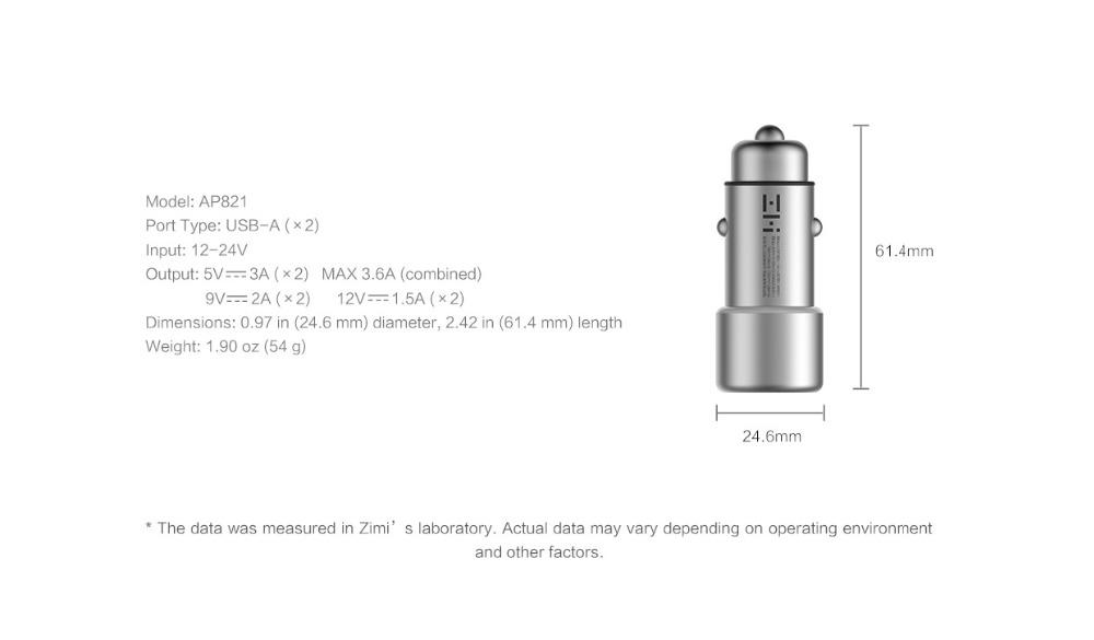 BUY Original Xiaomi ZMI AP821 Quick Charge 3.0 5V3.6A 18W