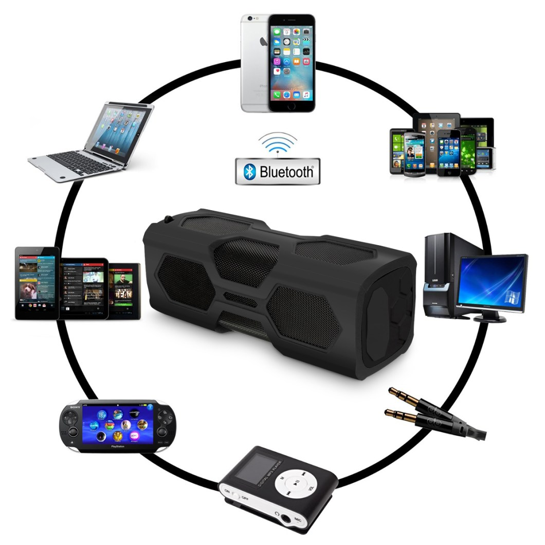 Elegiant IPX4 Waterproof Shockproof Bluetooth Speaker Portable Bass Subwoofer 14