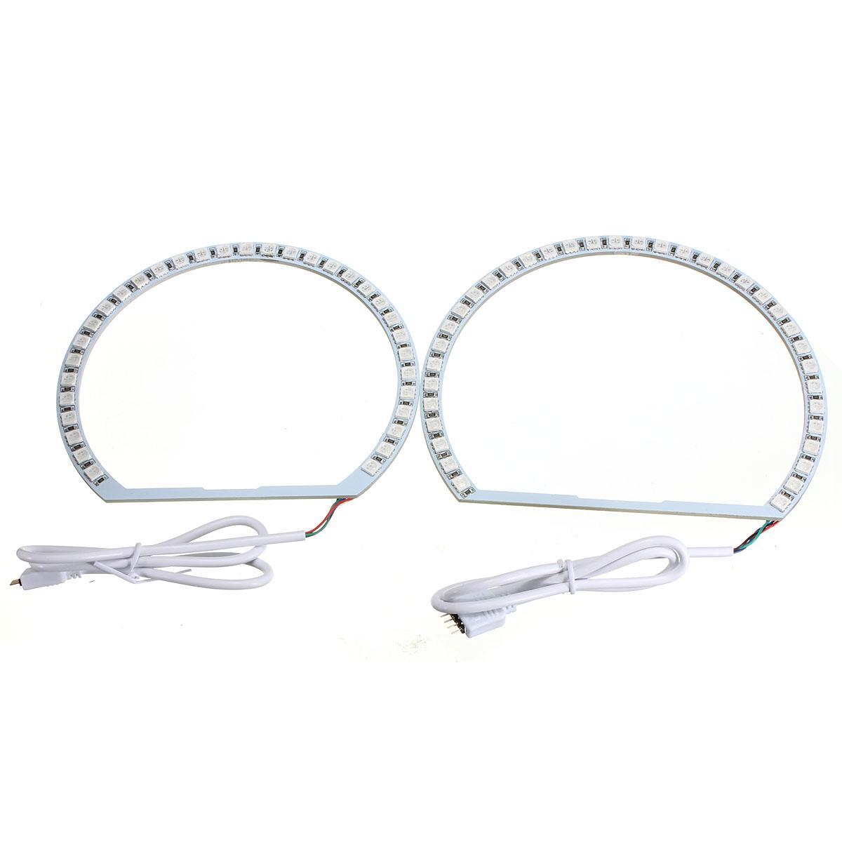 multi-color rgb led flash strobe light angel eye rings for