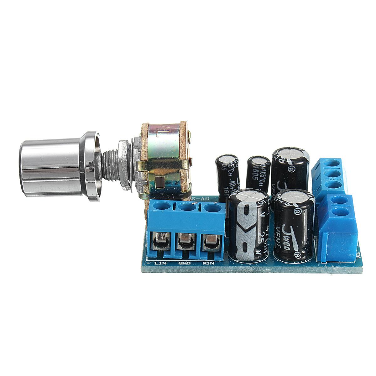1w Mini Stereo Amplifier Using Tda2822m Circuit Diagram
