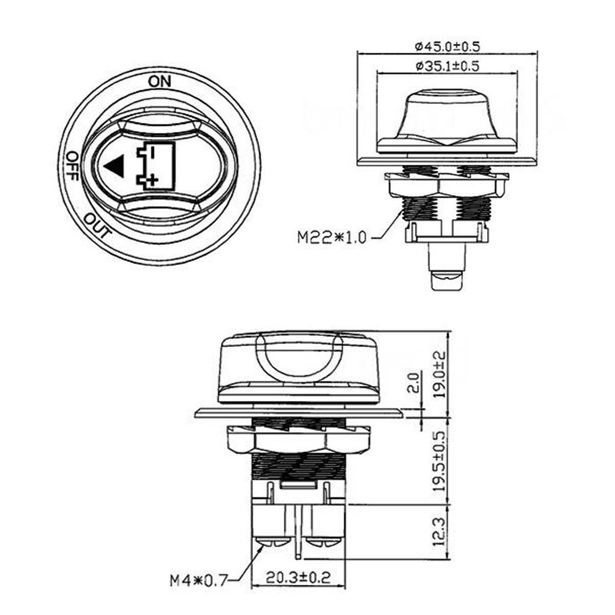 Max 50v Dc 50a Cont 75a Int Car Mini Battery Selector