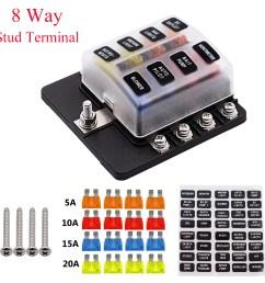 imars 8 way fuse box 12v 32v circuit standard blade block holder kit car caravan [ 1200 x 1200 Pixel ]