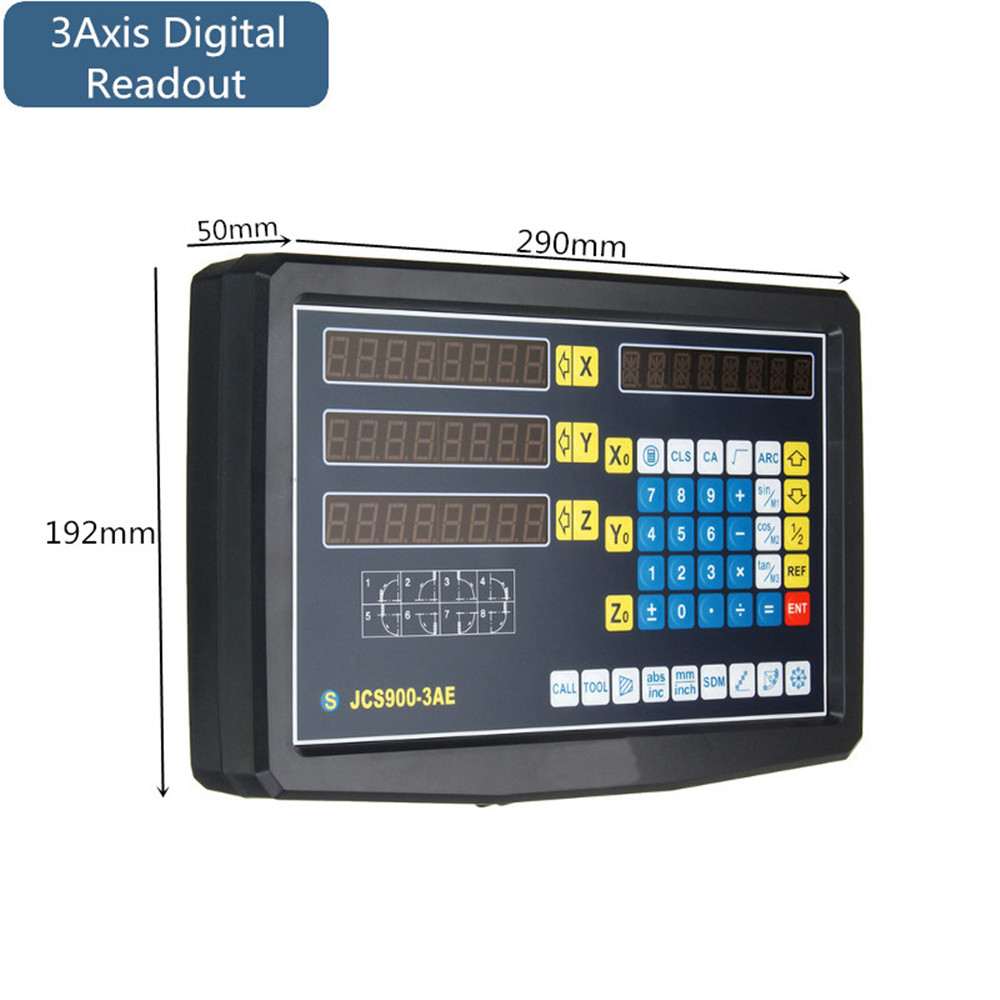 2/3 Axis Grating CNC Milling Digital Readout Display / 50-1000mm Electronic Linear Scale Lathe Tool 60