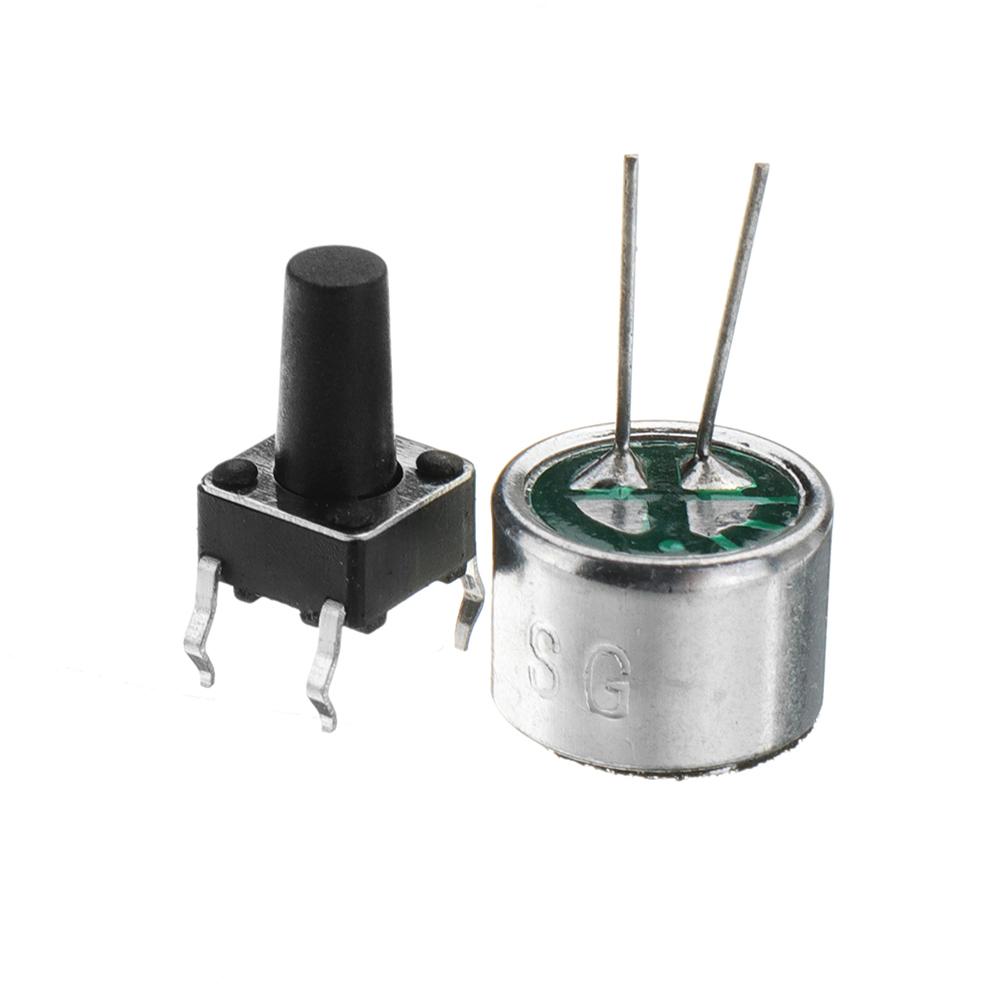 3pcs Miniature Digital Recording Voice IC Chip Module Movement Recorder Recording Pen Music Card Electronic Kit 30