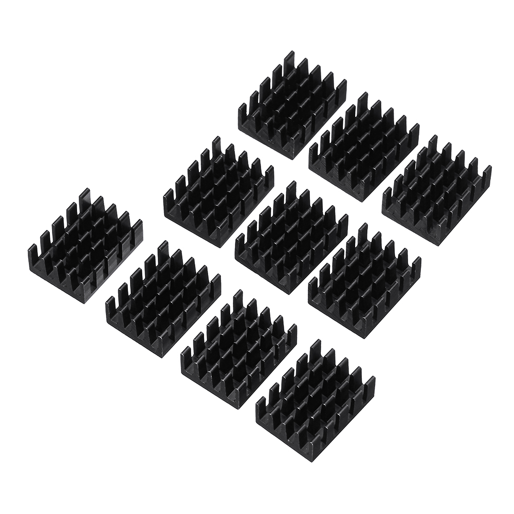 100Pcs 19x14x7mm Heat Sink Chip Special Radiator Aluminum Heat Conduction 33