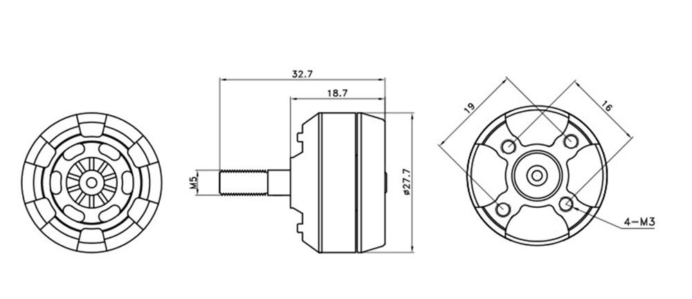 IFlight iForce iF2205 2205 2300KV 2-4S Brushless Motor for