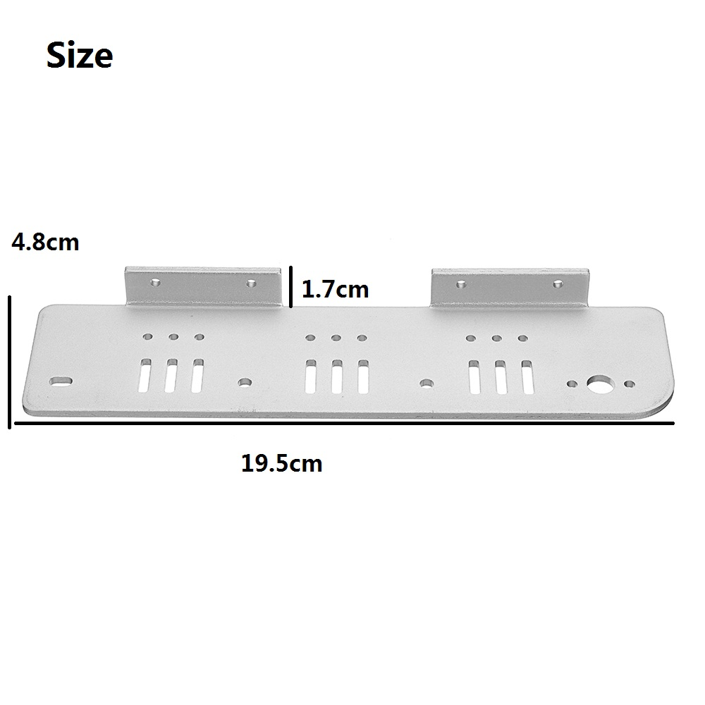 2 * One Pair of  Silver Aluminum Alloy Both Side Plate for T200/TP200/T600 Chassis Tank Car 25