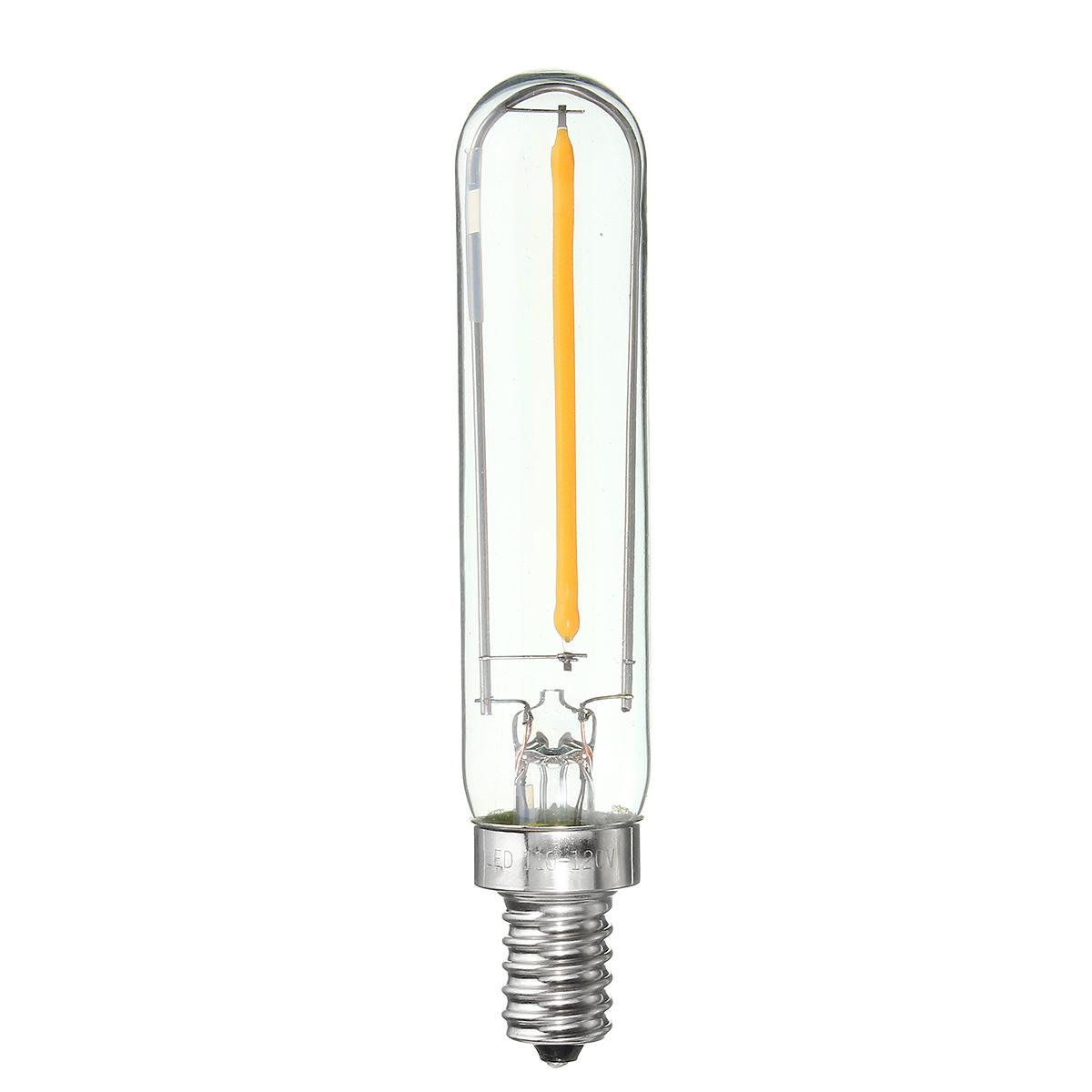 E12 E14 T120 1w 100lm Dimmable Vintage Cob Led Edison Filament Refrigerator Light Bulb Sale