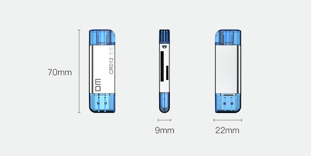 DM CR012 2-In-1 Type-C USB 3.0 to SD TF OTG Card Reader for Desktop PC Computer Phones 28