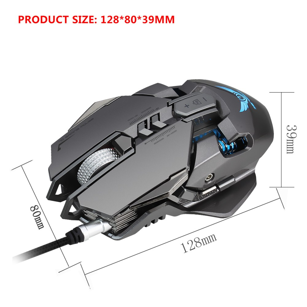 medium resolution of zeredate x300gy mechanical macros define gaming mouse 250 4000 dpi 7 keys usb wired optical