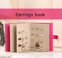 Earring Ear Drop Stud Cuff Book Jewelry Collection Display ...