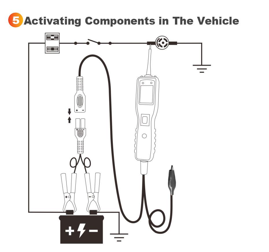 ancel pb100 automotive car electrical circuit tester power
