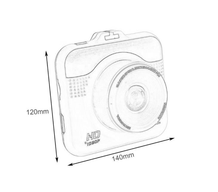 mini car dvr dash camera full hd vehicle auto dashcam