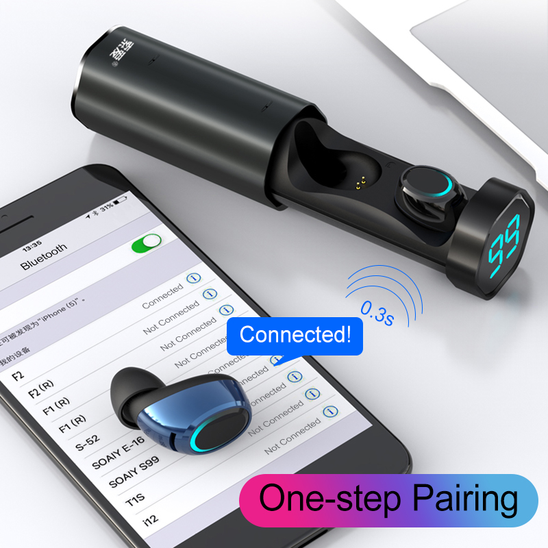 [Bluetooth 5.0] Bakeey T2 TWS Earphone LED Battery Display Smart Touch Binaural Call IPX5 Waterproof 12