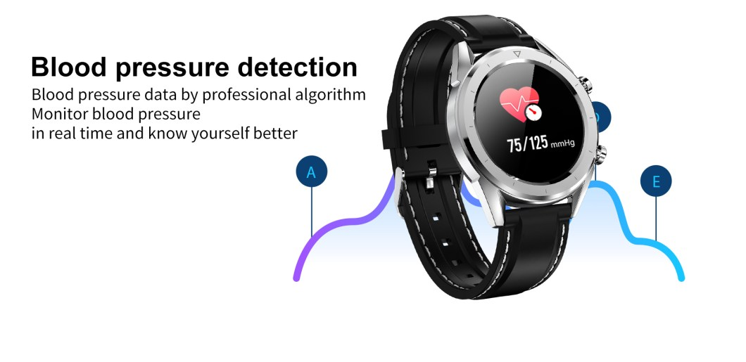 DT NO.1 DT28 1.54 Big Display Smart Watch ECG Monitor HR Blood Pressure Mobile Payment Watch 38