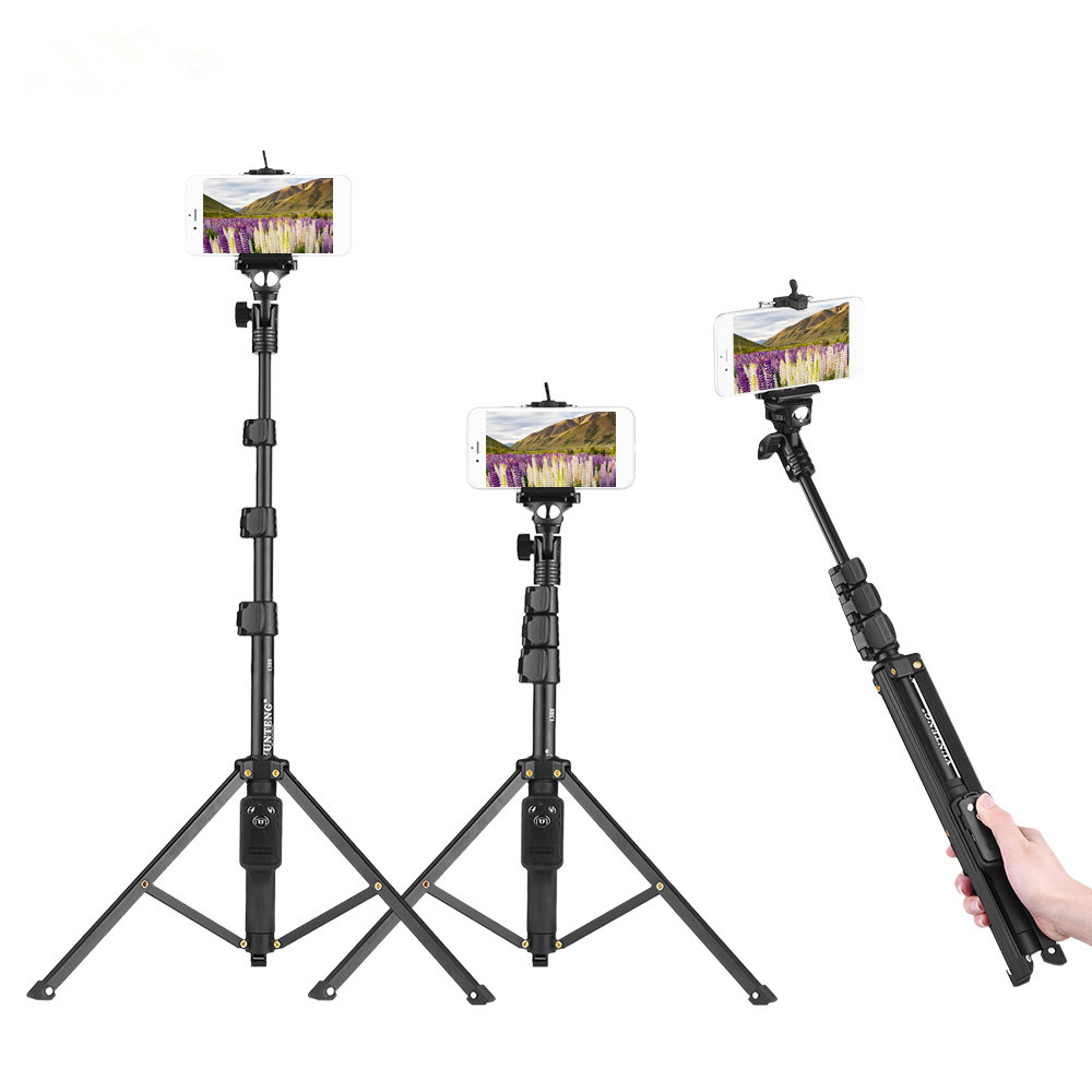 yunteng vct-1388 aluminum tripod selfie stick with phone