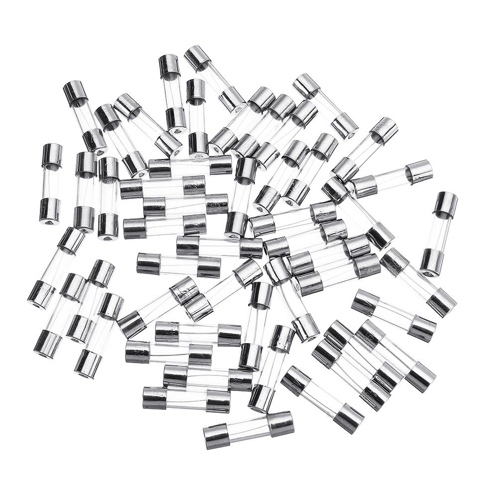 5pcs glass cartridge fuse tube box 5*20mm 0.5a~20a 250v