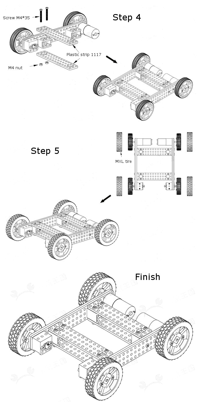 armored off road vehicle no.23 diy assembling smart car