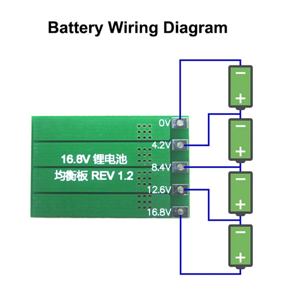 4s bms wiring diagram philips advance ballast 16 8v pcb 18650 lithium battery charger protection board balancing balanced current 100ma