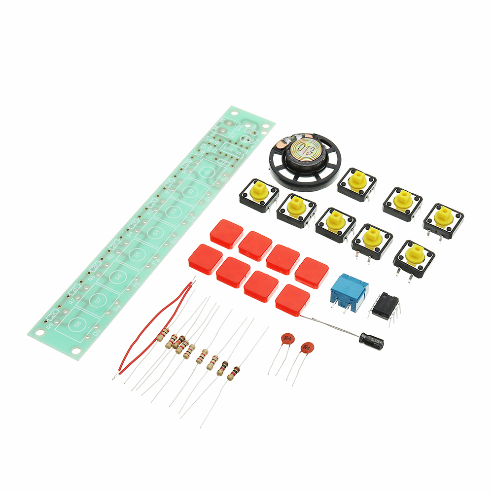 5pcs DIY NE555 Electronic Piano Organ Keyboard Module Kits With Battery Box And Button Cap Parts 10
