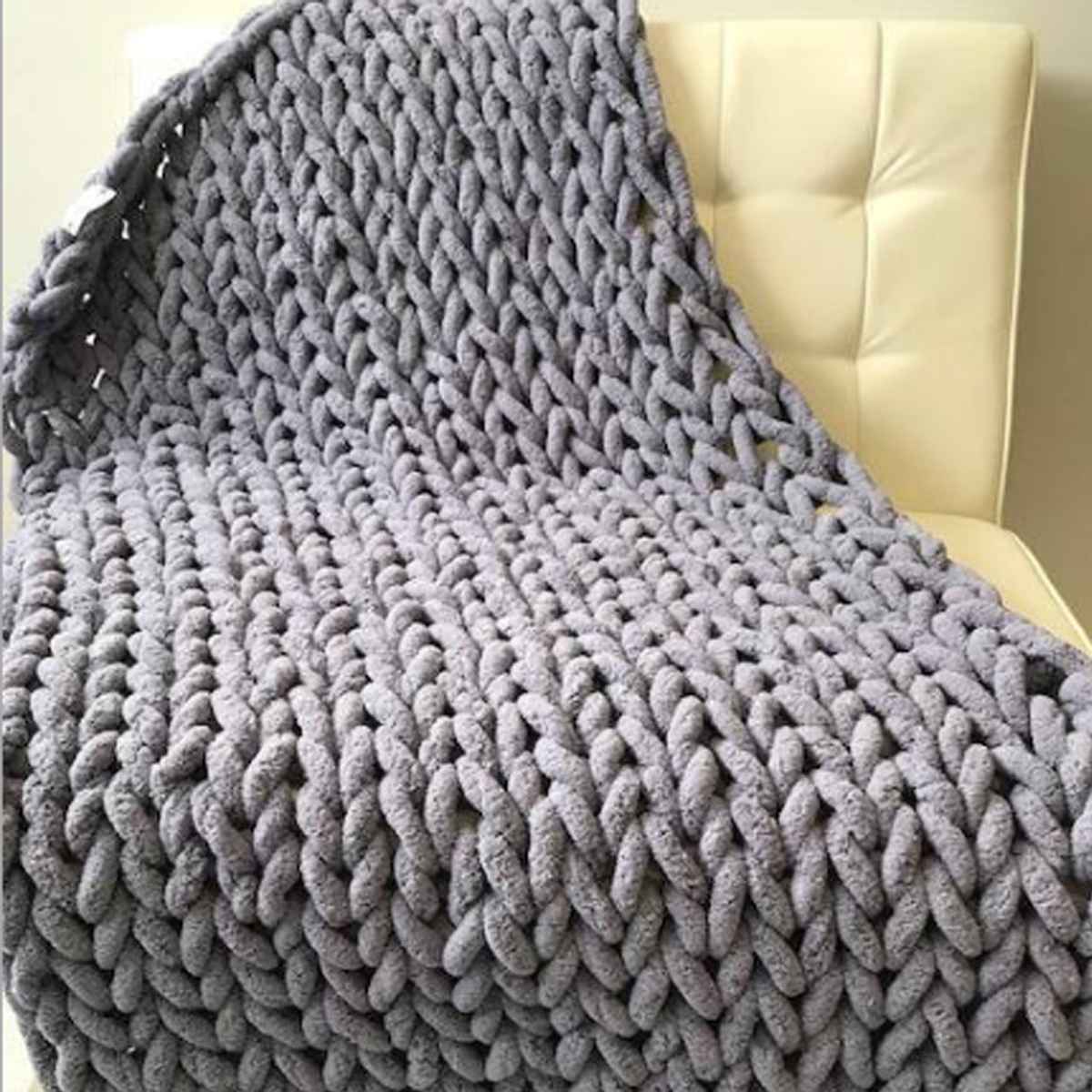 sofa cover blankets single fold out bed warm winter luxury handmade crocheted knitted 5 colors thick thread