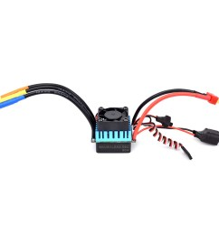 surpass hobby 60a brushless esc partly waterproof for 1 10 rc car support 2s 3s [ 1000 x 1000 Pixel ]