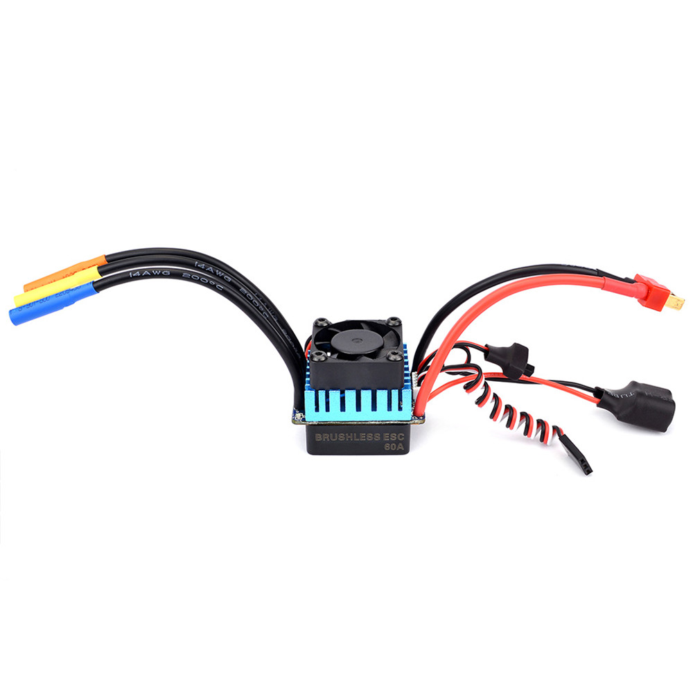medium resolution of surpass hobby 60a brushless esc partly waterproof for 1 10 rc car support 2s 3s