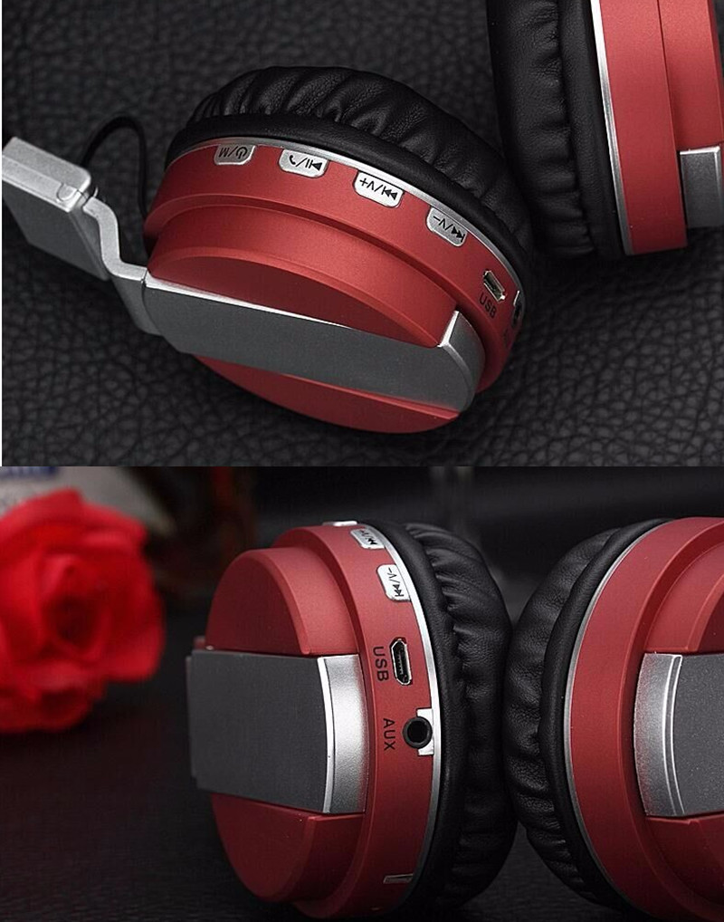 FE-018 Portable Foldable FM Radio 3.5mm NFC Bluetooth Headphone Headset with Mic for Mobile Phone 15