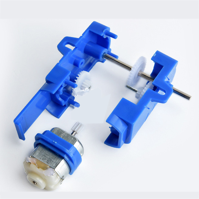 1:28 Transparent/Blue/Orange Hexagonal Axis 130 Motor Gearbox for DIY Chassis Car Model 13