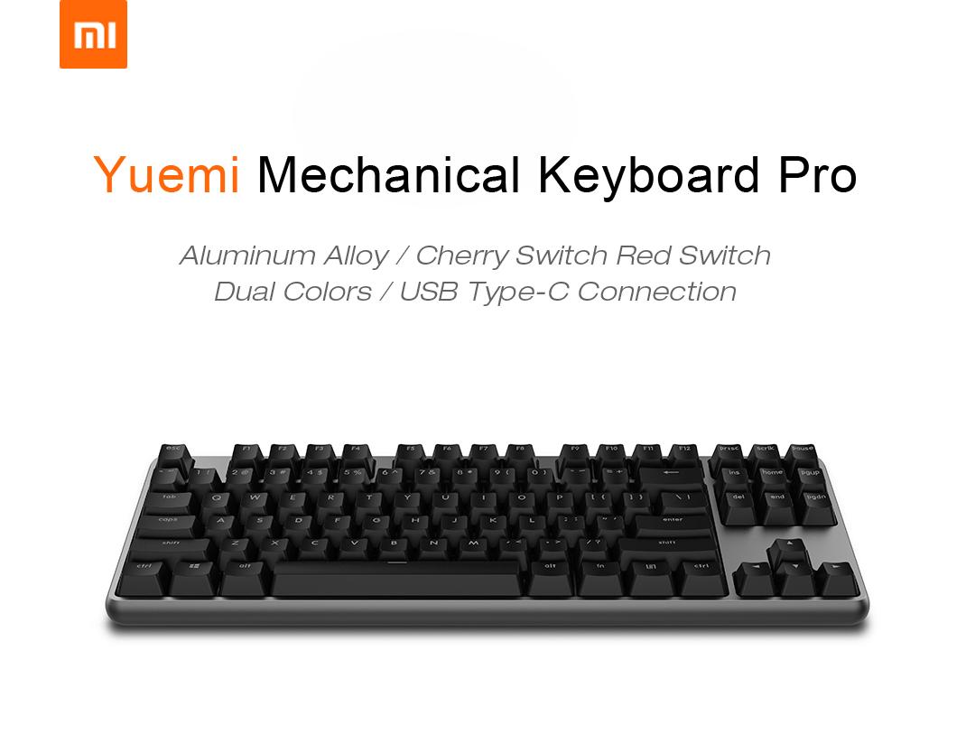 Xiaomi Yuemi Pro Mk02 Aluminum Alloy 87 Keys Nkro Cherry